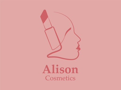 Alison Cosmetics minimal branding design vector logo