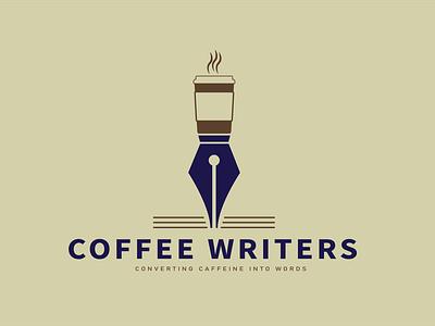 Coffee Writers Logo minimal logo illustration flat design