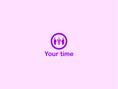 Your Time foundation- concept energy violet young people volunteer simple vector identity design foundation design branding logo