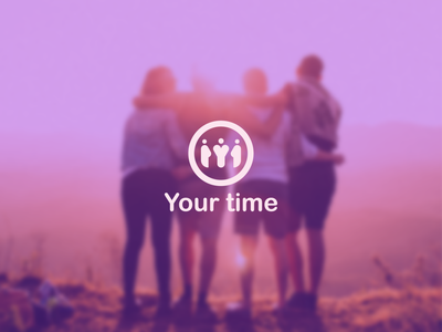 Your time foundation violet non-profit youth volunteer people young foundation branding logo design design vector simple logo