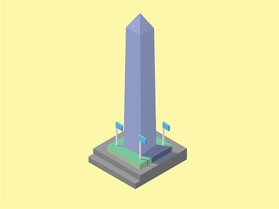 Washington Monument illustration monument washington dc isometric design isometric illustration isometric
