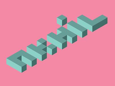 Isometric Text text isometric design isometric illustration design illustration isometric