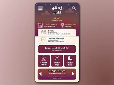 Eling Yuk Moslem App! muslim app muslim moslem mobile app design mobile design mobile app mobile ui mobile islamic art islamic design islamicart islamic app typography design ui