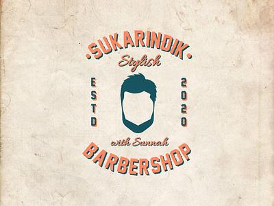 Vintage Logo for Sukarindik Barbershop barbershop logo barbershop branding and identity branding concept branding agency branding branding design brand vintage design vintage font vintage logo vintage