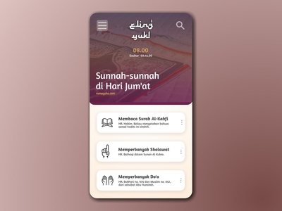 Simple UI Design for Bulletin Muslim App article illustration article page article design ui ui design bulletin cover bulletin muslim