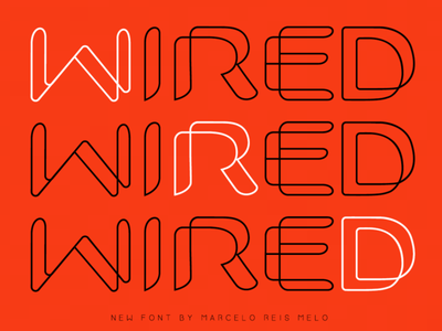 free font wired typography typeface type freefont font