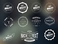 FREEBIE VECTOR HIPSTER INSIGNIA BADGES