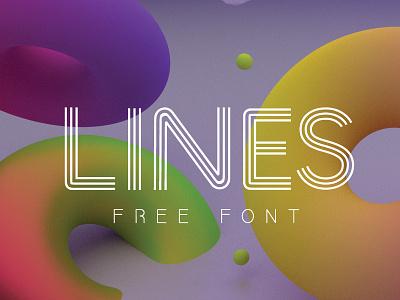LINES FREE FONT free handmade handwrite brush webfont type freefont font freebies freebie