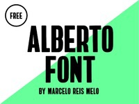 Alberto free font bold condensed type