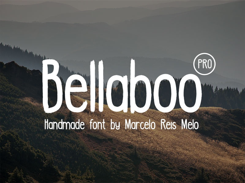 Bellaboo PRO font freebie freebies font freefont type webfont brush handwrite handmade