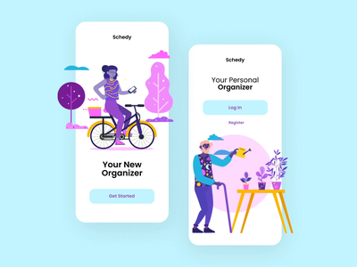 'Dayflow' Illustrations for Awesome UI system free freebies illustrator illustrations/ui illustration design ux ui illustrations illustration