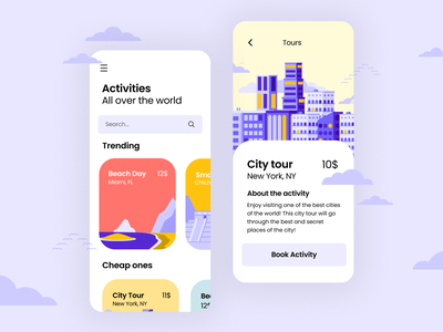 Cityscapes for Delightful UI system free freebies illustrator illustrations/ui illustration design ux illustrations ui illustration