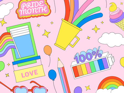 Prepare for Pride with Stickers system free freebies illustrator illustrations/ui illustration design ux illustrations ui illustration