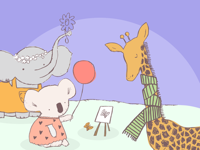 Fancy a Fluffy Doodle? branding logo design illustrator illustrations/ui illustration design ux illustrations ui illustration