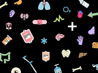 Medical stickers to heal your designs branding logo design illustrator illustrations/ui illustration design ux illustrations ui illustration