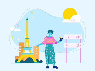 Explore the world with Nomads branding logo design illustrator illustrations/ui illustration design ux illustrations ui illustration