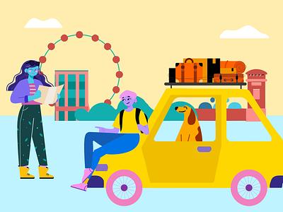 Roadtrip illustrations illustrations/ui illustration design ux illustrations illustration logo motion graphics graphic design 3d animation ui