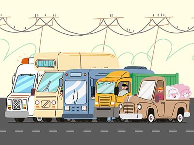 Vehicle doodles branding logo design illustrator illustrations/ui illustration design ui ux illustrations illustration