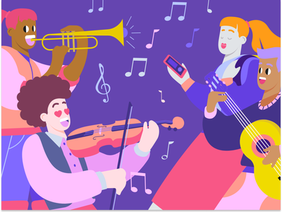 Musical Illustrations for Your Creations branding logo design illustrator illustrations/ui illustration design ux illustrations ui illustration