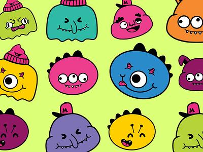 Scary Monster Doodles! branding logo design illustrator illustrations/ui illustration design ux ui illustrations illustration