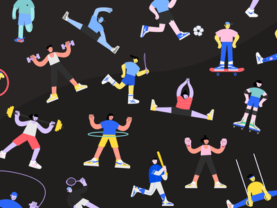 Get Physical with Fitz branding logo design illustrator illustrations/ui illustration design ux ui illustrations illustration