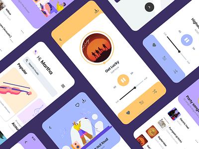 🎵 Design Your Own Music App 🎵 branding logo design illustrator illustrations/ui illustration design ux ui illustrations illustration