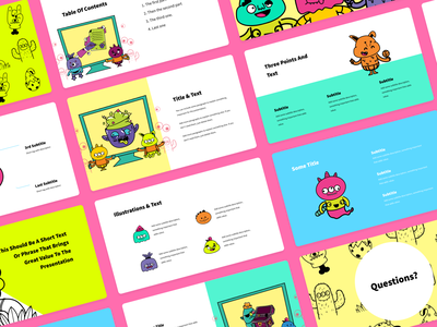 Create Quirky Presentations with Monsters branding logo design illustrator illustrations/ui illustration design ux ui illustrations illustration