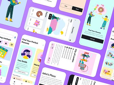 Make Booking Fun with Nomads branding logo design illustrator illustrations/ui illustration design ux ui illustrations illustration