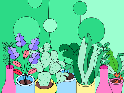 Pleasant Plant Illustrations branding logo design illustrator illustrations/ui illustration design ux illustrations ui illustration