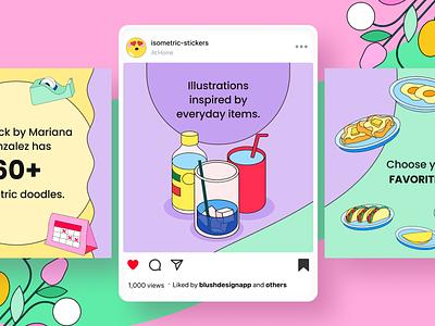 Everyday Doodles for Social Media branding logo design illustrator illustrations/ui illustration design ux ui illustrations illustration