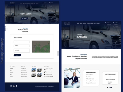Standard Freight ( Trucking Company ) ui web minimal branding website typography illustration ux design