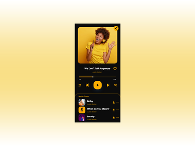 Daily UI 009 Music Player design ux ui dailyui adobe xd adobe photoshop