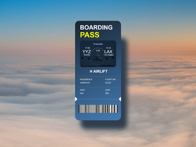 Boarding pass dailyui adobe xd adobe photoshop