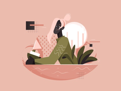 The Boat concept people lined character vector minimal flat illustration design art