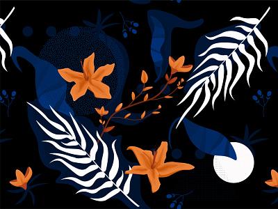 Seamless Floral Pattern print leaves pattern art geometrical floral pattern background vector illustration design art
