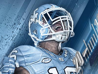 "2016 UNC Football ""Raise Up"" Artwork sports football sports design american football college football tar heels photoshop"