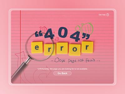 404 error page web ui design startup figma dailyui