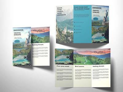 Tri fold brochure flyers design