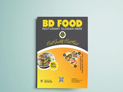Food menu flyer banner design restaurant food menu logo poster flyers