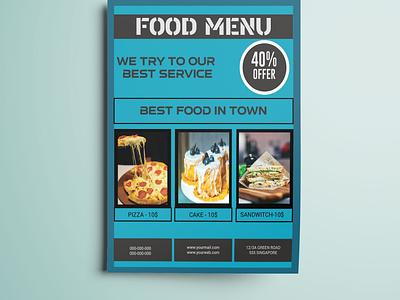 Menu flyer restaurant branding menu design menu card restaurant flyers