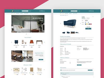 Maynooth Furniture Web Design ecommerce furniture website web design ui