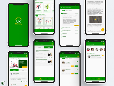 UX Mastery - UX Design Learning App mobile user experience userinterface forum blog community class learning platform course learning app interface ios android ux inspiration figma ui design dailyui