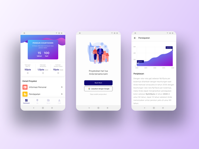Retirement Plan App investment chart projection onboarding dashboard finance ux plan retirement inspiration apps web mobile ios interface android figma ui design dailyui