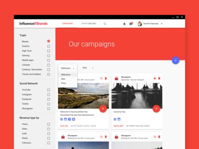 Web Rebranding — Material Design