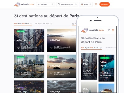 Weekend flight deals – Results search responsive clean ui travel flight