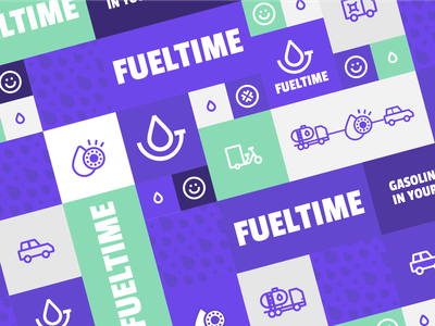 Fueltime – Gasoline already in your car colorful friendly icons ux ui app branding logo delivery service case study behance energy fuel oil delivery
