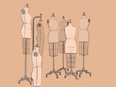 Mannequins Illustration mannequins procreate illustration design