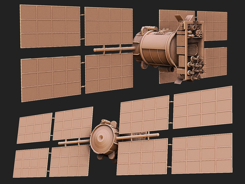 Satellite - Game Asset 3d realtime game development 3dsmax