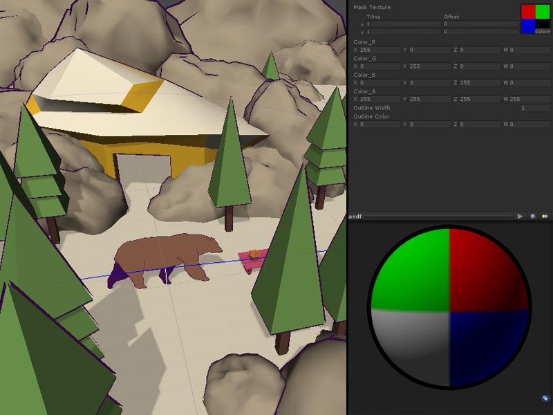 Bear Game Shader/Tech gameart techarch cg glsl unity3d