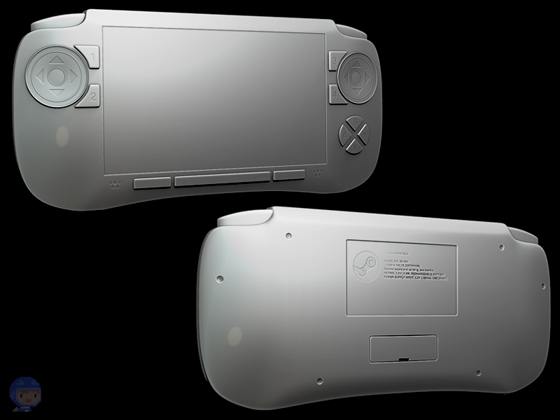 Steam Handheld Model 3d realtime 3dsmax zbrush